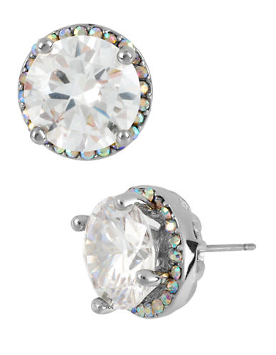 Betsey Johnson Crystal Round Stud Earring-CRYSTAL-One Size
