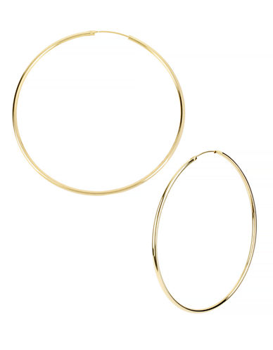 Kenneth Cole New York Large Hoop Earring-SHINY GOLD-One Size