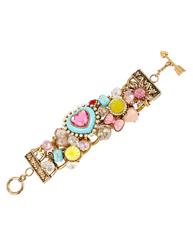 Betsey Johnson Heart and Candy Toggle Bracelet-MULTI-COLOURED-One Size