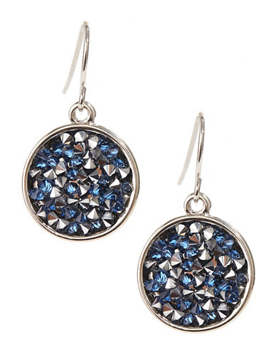 Kenneth Cole New York Round Drop Earrings-BLUE/BLACK-One Size