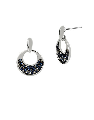 Kenneth Cole New York Faceted Stud Drop Earrings-BLUE-One Size