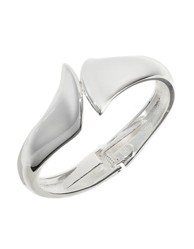 Robert Lee Morris Soho Sculpted Hinged Bangle-SILVER-One Size