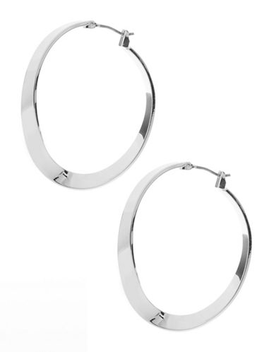 Robert Lee Morris Soho Sculpted Hoop Earrings-SILVER-One Size