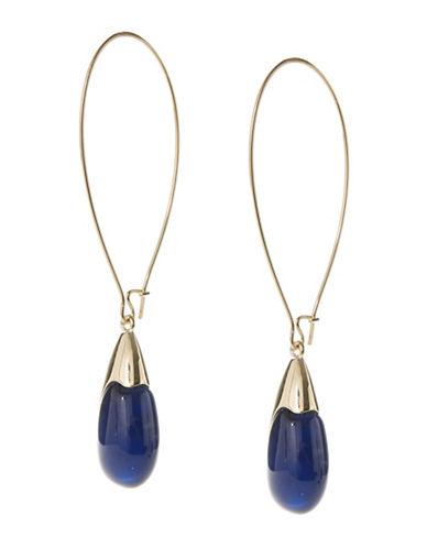 Robert Lee Morris Soho Teardrop Pearl Earrings-BLUE/GOLD-One Size