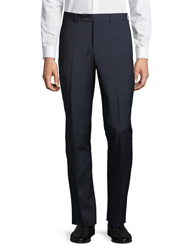 Ted Baker No Ordinary Joe Plaid Wool Trousers-BLUE-31 Regular