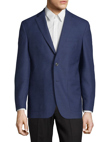Savile Row Classic Wool Sportcoat-BLUE-42 Tall