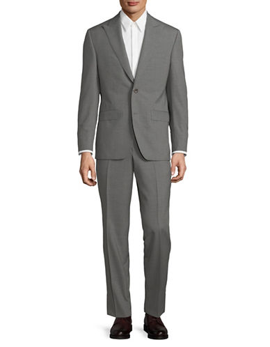 Savile Row Classic Wool Suit-GREY-40 Short