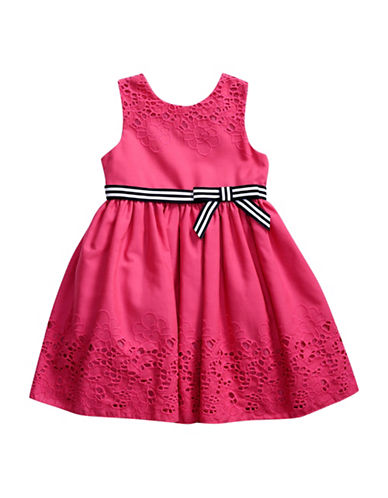 Sweetheart Rose Dressy Eyelet Dress-PINK-5