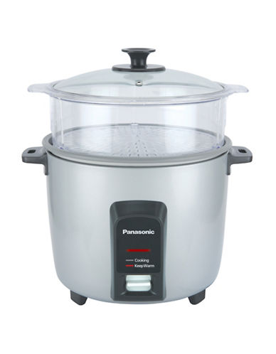 Panasonic 12-Cup Automatic Rice Cooker with Steaming Basket-SILVER-One Size