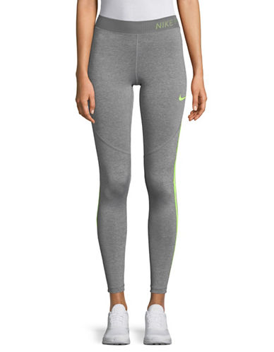 Nike Heathered Logo Tights-GREY-Medium