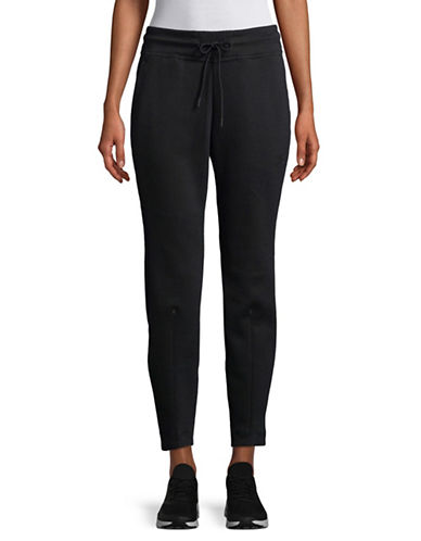 Nike Cotton-Blend Drawstring Pants-BLACK-Small 89529460_BLACK_Small