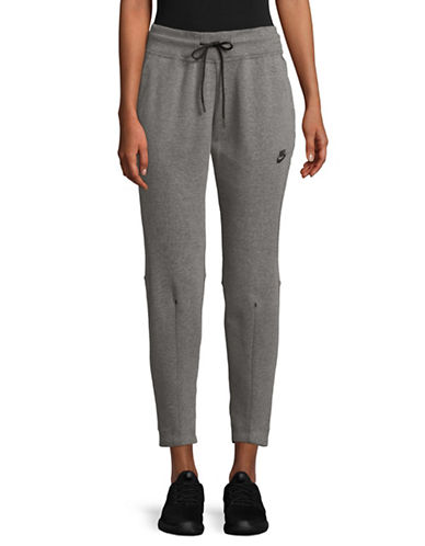 Nike Drawstring Pants-GREY-X-Large