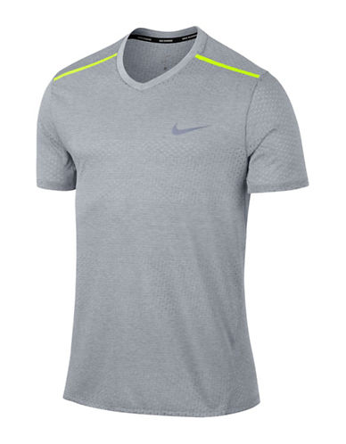 Nike Breathe Running Top-GREY-Small
