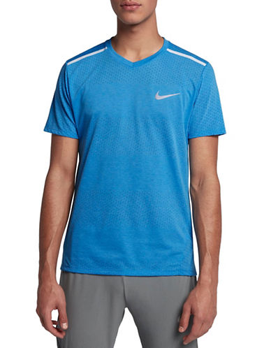 Nike Breathe Running Top-BLUE-Small
