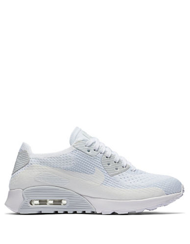 Nike Air Max 90 Flyknit Ultra Sneakers-WHITE-7.5