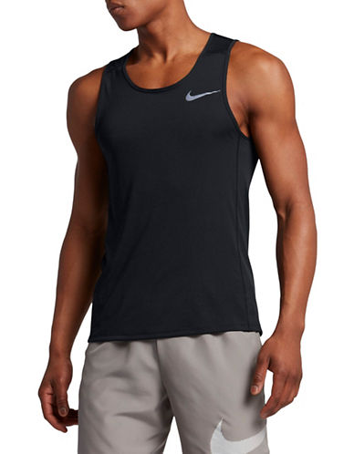 Nike Miler Dry Running Tank Top-BLACK-XX-Large