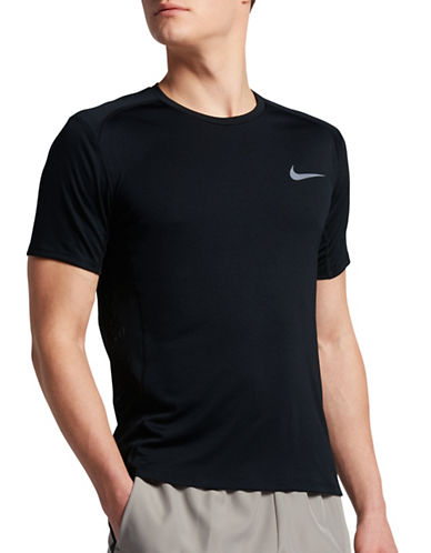 Nike Dry Miler Running Top-BLACK-Medium