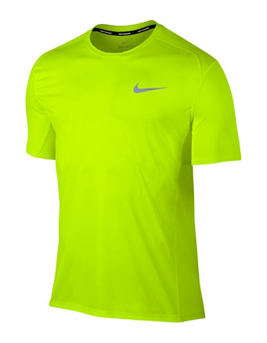 Nike Dry Miler Running Top-BLUE-Small