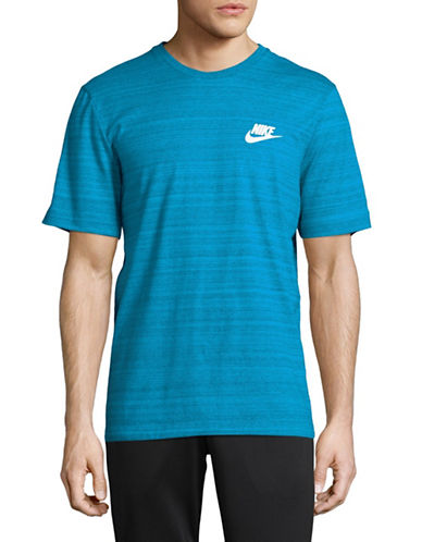 Nike Logo Striped T-Shirt-BLUE-Medium 89690640_BLUE_Medium