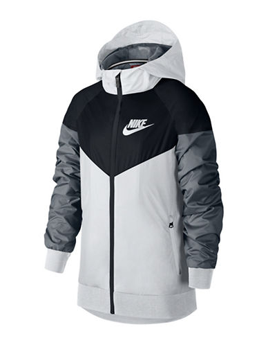 Nike Windrunner Hooded Jacket-WHITE-Medium