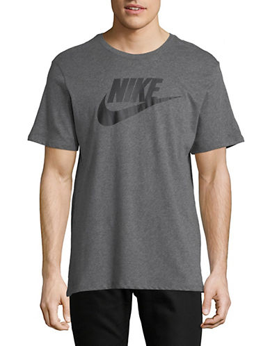 Nike Logo Cotton T-Shirt-DARK GREY-Medium 89934773_DARK GREY_Medium