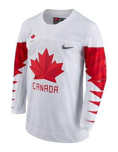 Nike Team Canada Olympic Jersey-WHITE-Medium