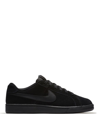 Nike Court Royale Suede Sneakers-BLACK-10.5