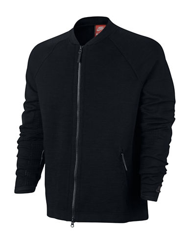 Nike Sportswear Tech Knit Jacket-BLACK-Large 88979322_BLACK_Large