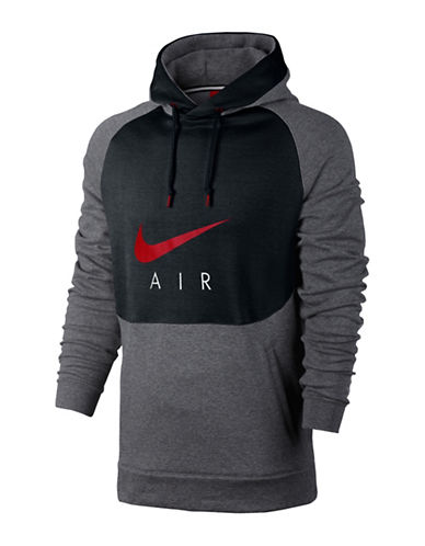 Nike Sportswear French Terry Pullover Hoodie-GREY-Medium 89087509_GREY_Medium