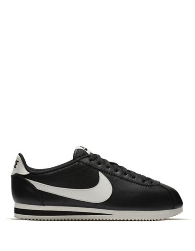 Nike Classic Cortez Leather Sneakers-BLACK-7
