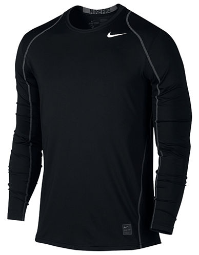Nike Seamed Active Long Sleeve Tee-BLACK-Large 87841540_BLACK_Large
