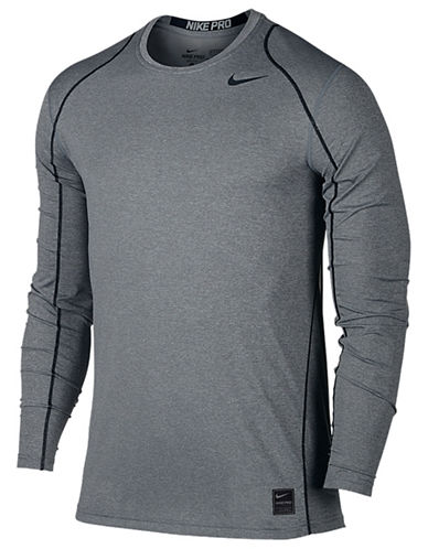 Nike Cool Fitted Long Sleeve Shirt-CARBON-Medium
