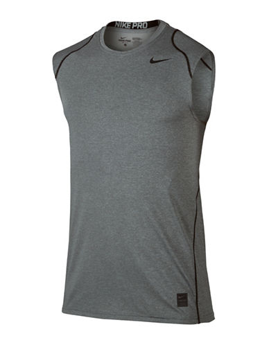 Nike Dri-FIT Pro Top-GREY-Large 89073692_GREY_Large