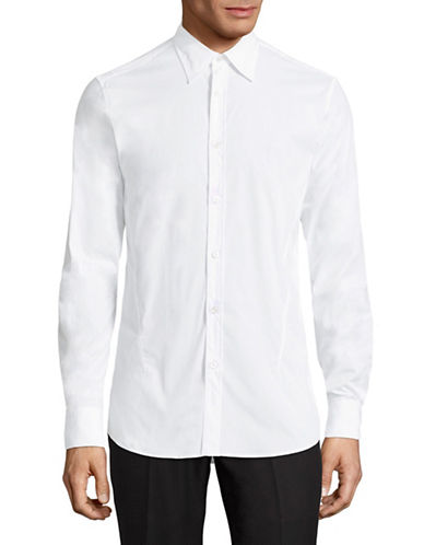 Z Zegna Drop 8 Fit Sport Shirt-WHITE-EU 43/US 17