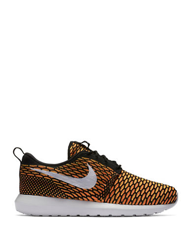 Men's Nike Flyknit 'Roshe Run' Sneaker, Size 10 M - Orange