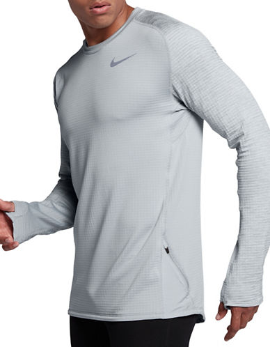 Nike Therma Sphere Element Running Top-GREY-XX-Large
