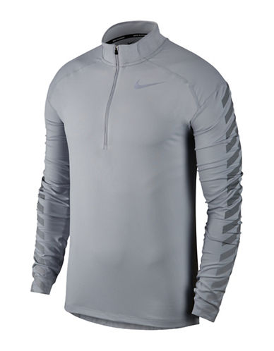 Nike Dry Element Flash Running Top-GREY-Medium