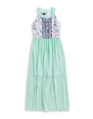 Ally B Embellished Halter Dress-MINT-10