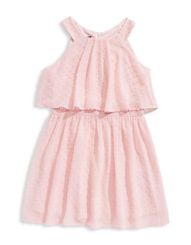 Ally B Sleeveless Popover Dress-PINK-14