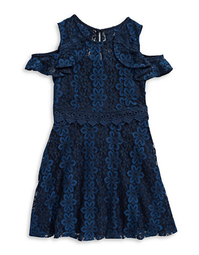 Ally B Laced Cold-Shoulder Dress-BLUE-12