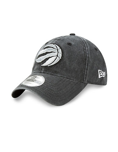 New Era Toronto Raptors Rugged Wash 9TWENTY Cap-GREY-One Size