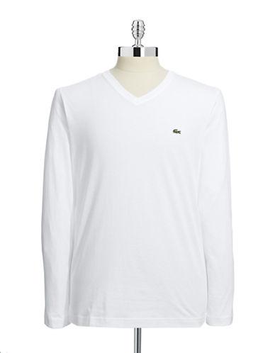 Lacoste Pima Cotton Long Sleeve Top-WHITE-X-Large 87081208_WHITE_X-Large