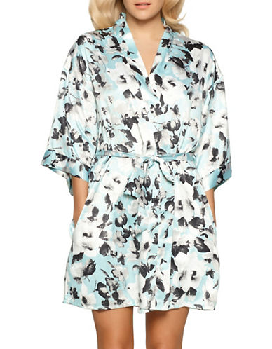 Jezebel Muse Floral Kimono Robe-GREY FLORAL-Large/X-Large