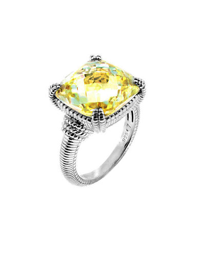 Judith Ripka La Petite Cushion Stone Ring-CRYSTAL-6
