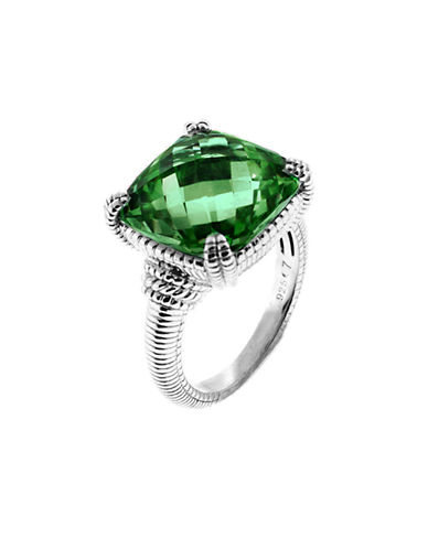 Judith Ripka La Petite Cushion Stone Ring-QUARTZ-7