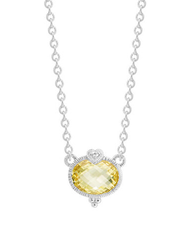 Judith Ripka La Petite Oval Stone Necklace-CRYSTAL-One Size