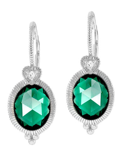 Judith Ripka La Petite Oval Earring on wire-QUARTZ-One Size