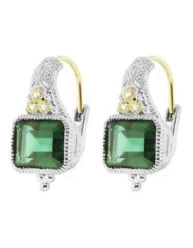 Judith Ripka Estate Cushion Earring on wire-QUARTZ-One Size
