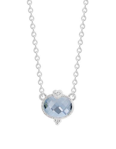 Judith Ripka La Petite Oval Stone Necklace-QUARTZ-One Size