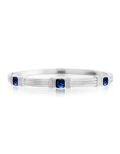 Judith Ripka La Petite Three Stone Bangle-CORUNDUM-One Size